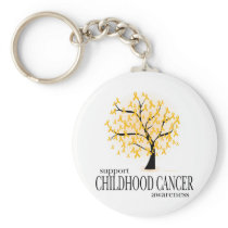 Childhood Cancer Tree Keychain