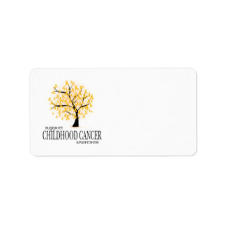 Childhood Cancer Tree Label