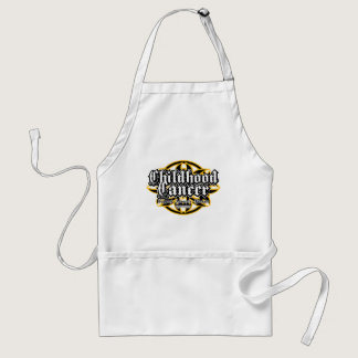 Childhood Cancer Tribal Adult Apron