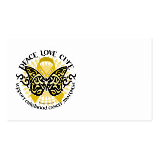 Childhood Cancer Tribal Butterfly Business Cards