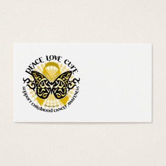 Childhood Cancer Tribal Butterfly Business Card