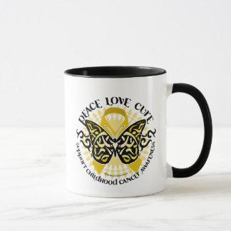 Childhood Cancer Tribal Butterfly Mug