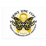 Childhood Cancer Tribal Butterfly Postcard