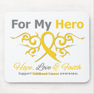 Childhood Cancer Tribal Ribbon Hero Mousepads