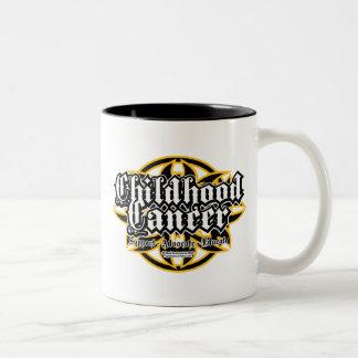 Childhood Cancer Tribal Two-Tone Coffee Mug