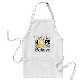 Childhood Cancer Typographic Faith Love Hope Aprons