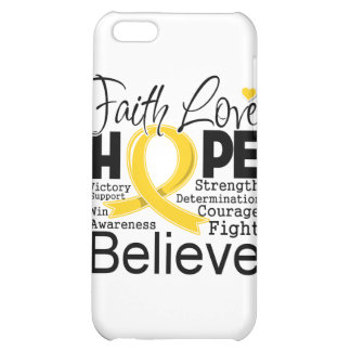Childhood Cancer Typographic Faith Love Hope iPhone 5C Cover