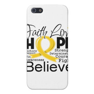 Childhood Cancer Typographic Faith Love Hope Cases For iPhone 5