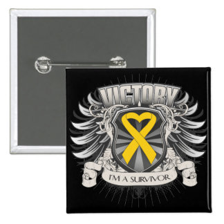 Childhood Cancer Victory 2 Inch Square Button