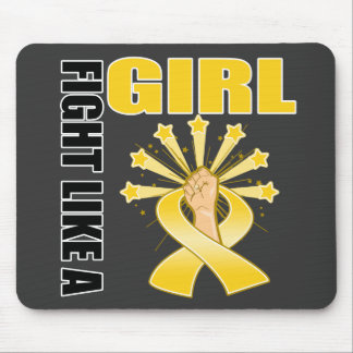 Childhood Cancer Victory Fight Like A Girl Mousepads