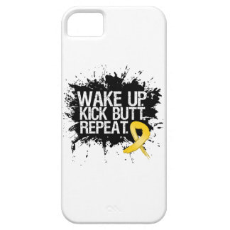 Childhood Cancer Wake Up Kick Butt Repeat iPhone 5 Cover