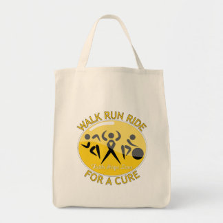 Childhood Cancer Walk Run Ride For A Cure Canvas Bag