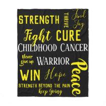 Childhood Cancer Warrior blanket