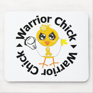 Childhood Cancer  Warrior Chick Mousepads