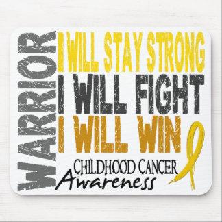 Childhood Cancer Warrior Mouse Pads