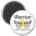 Childhood Cancer Warrior Scroll Magnet