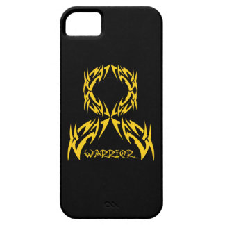 Childhood Cancer Warrior Tribal Ribbon iPhone 5 Covers