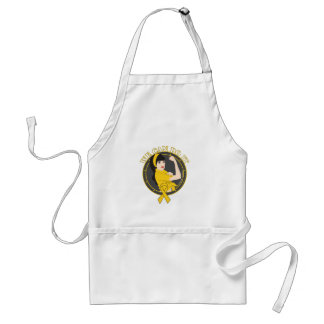 Childhood Cancer We Can Do It (Asian Girl) Apron
