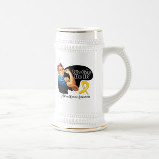 Childhood Cancer We Can Do It Rosie The Riveter Coffee Mugs