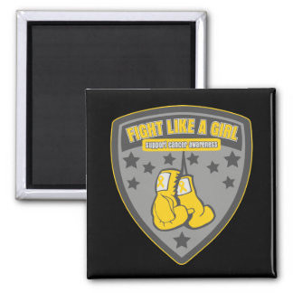 Childhood Cancer Wear Fight Like A Girl Patch Refrigerator Magnet