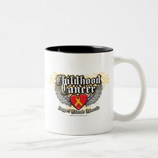 Childhood Cancer Wings Two-Tone Coffee Mug