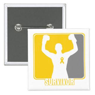 Childhood Cancer Winning Survivor Button