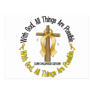 Childhood Cancer With God All Things Are Possible Postcard