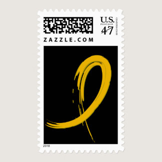 Childhood Cancer's Gold Ribbon A4 Postage