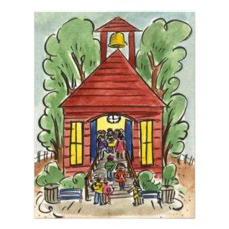 CHILDHOOD EDUCATION SCHOOL HOUSE CUTE INVITATION