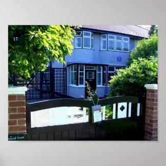 Childhood home of John Lennon Poster