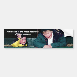 Childhood Is... Bumper Sticker Car Bumper Sticker