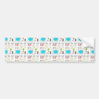 Childhood Map Bumper Sticker