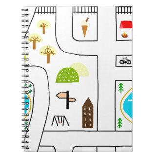 Childhood Map Notebook