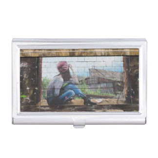 Childhood Memories Graffiti Case For Business Cards