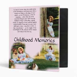 Childhood Memories Inspirational 3 Ring Binder