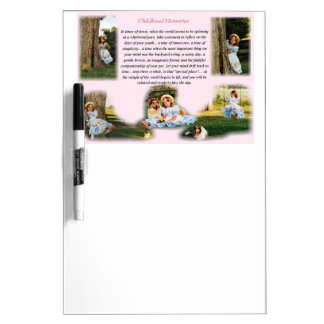 Childhood Memories Inspirational Dry Erase Board