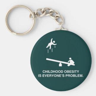 Childhood Obesity Basic Round Button Keychain