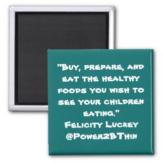 Childhood Obesity Solutions zazzle_magnet