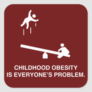 Childhood Obesity Square Stickers