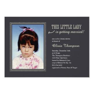 "Childhood Photo Bridal Shower Invitations 5"" X 7"" Invitation Card"