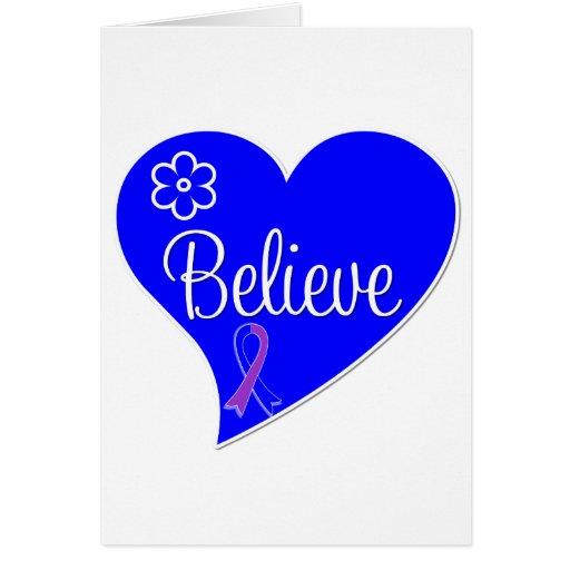 Childhood Stroke Believe Heart Greeting Cards