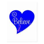 Childhood Stroke Believe Heart Postcard