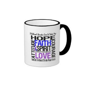 Childhood Stroke Can't Take My Hope Ringer Coffee Mug