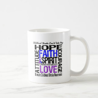 Childhood Stroke Can't Take My Hope Classic White Coffee Mug