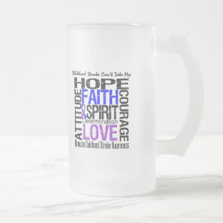 Childhood Stroke Can't Take My Hope 16 Oz Frosted Glass Beer Mug
