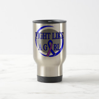 Childhood Stroke Fight Like A Girl Circular Mugs