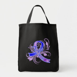 Childhood Stroke Fight Like a Girl Flourish Tote Bags