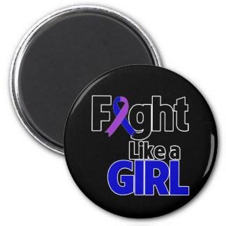 Childhood Stroke Fight Like a Girl Refrigerator Magnets