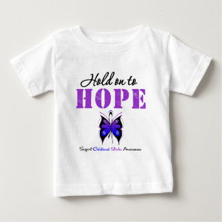 Childhood Stroke Hold On To Hope Baby T-Shirt