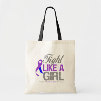 Childhood Stroke Ribbon - Fight Like a Girl Tote Bags